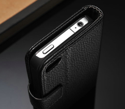 online retailer 524ab dd22c Premium Leather Wallet Case for iPhone 4/4S