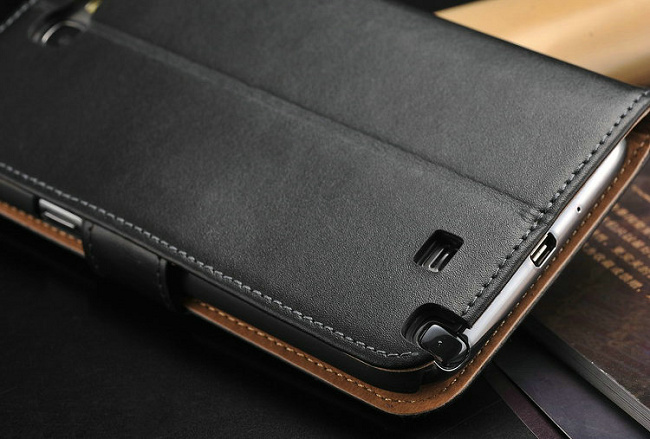 reputable site f5a53 0cda8 Leather Wallet Case for Samsung Galaxy Note 2 N7100